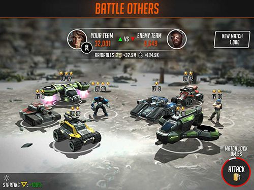 iPhone、iPad または iPod 用League of war: Mercenariesゲームのスクリーンショット。