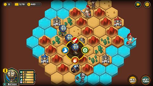 Screenshots of the Legion wars: Tactics strategy game for iPhone, iPad or iPod.