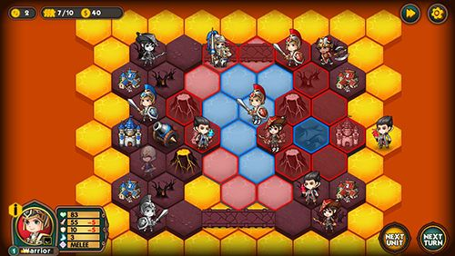 Screenshots vom Spiel Legion wars: Tactics strategy für iPhone, iPad oder iPod.