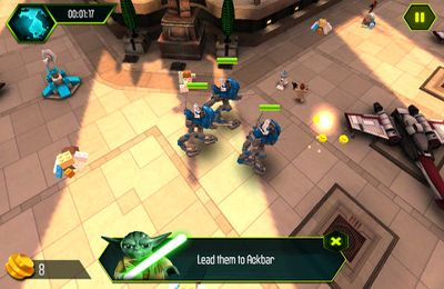 Screenshots vom Spiel LEGO Star Wars The YODA Chronicles für iPhone, iPad oder iPod.