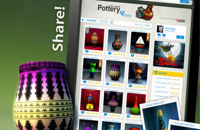 Screenshots of the Let's create! Pottery game for iPhone, iPad or iPod.