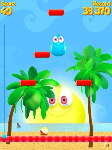 Capturas de pantalla del juego Let's jump! para iPhone, iPad o iPod.