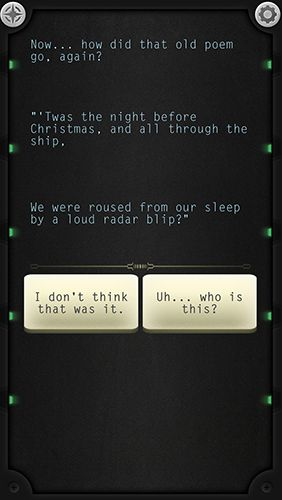 Screenshots vom Spiel Lifeline: Silent night für iPhone, iPad oder iPod.