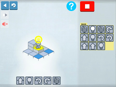 Capturas de pantalla del juego Lightbot para iPhone, iPad o iPod.