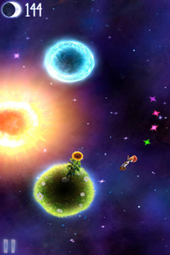 Écrans du jeu Little Galaxy pour iPhone, iPad ou iPod.