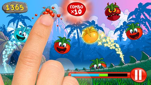 Screenshots of the Little tomato: Age of tomatoes game for iPhone, iPad or iPod.