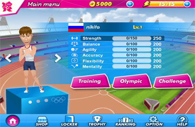 Screenshots vom Spiel London 2012 - Official Mobile Game für iPhone, iPad oder iPod.