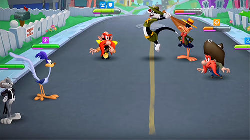 Écrans du jeu Looney tunes: World of mayhem pour iPhone, iPad ou iPod.