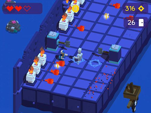 Screenshots of the Looty dungeon game for iPhone, iPad or iPod.