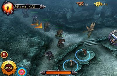 Écrans du jeu Lord of the Rings Middle-Earth Defense pour iPhone, iPad ou iPod.