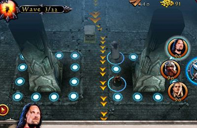 Screenshots do jogo Lord of the Rings Middle-Earth Defense para iPhone, iPad ou iPod.