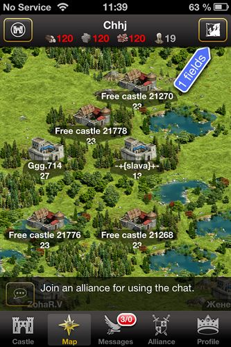 Screenshots of the Lords & knights game for iPhone, iPad or iPod.