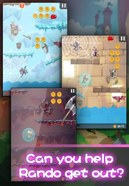Screenshots of the Lost Jump Deluxe game for iPhone, iPad or iPod.