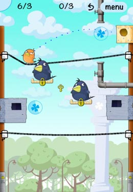Écrans du jeu Lucky Birds City pour iPhone, iPad ou iPod.