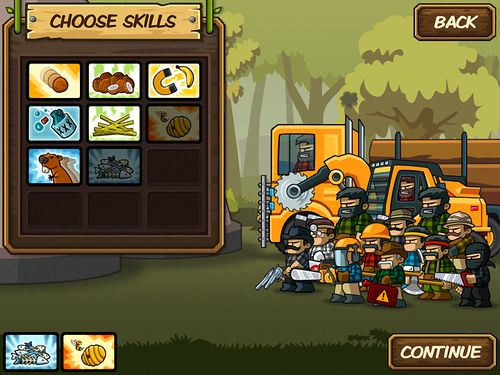 Screenshots of the Lumber whack: Defend the wild game for iPhone, iPad or iPod.