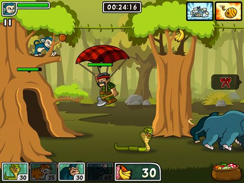 Screenshots vom Spiel Lumber whack: Defend the wild für iPhone, iPad oder iPod.