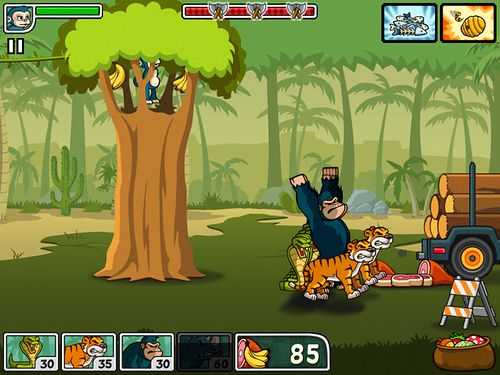 Capturas de pantalla del juego Lumber whack: Defend the wild para iPhone, iPad o iPod.
