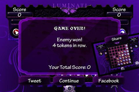 Screenshots of the Luminati game for iPhone, iPad or iPod.