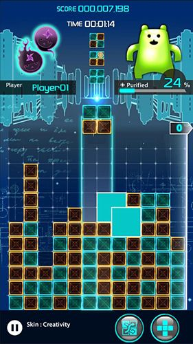Écrans du jeu Lumines puzzle and music pour iPhone, iPad ou iPod.