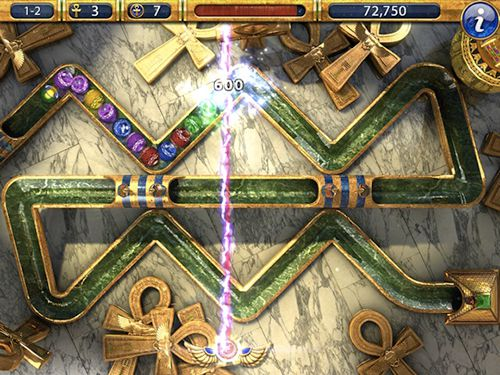 Screenshots of the Luxor 2 game for iPhone, iPad or iPod.