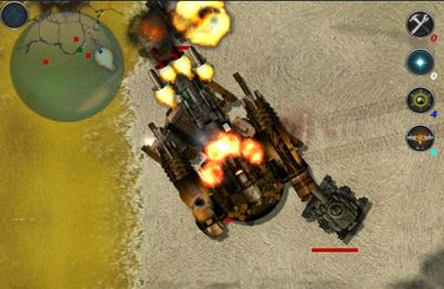 Screenshots of the Machine War game for iPhone, iPad or iPod.