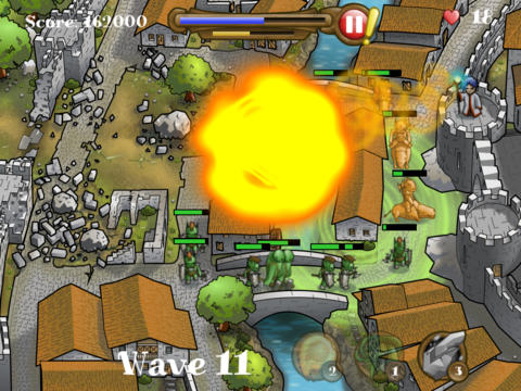 Screenshots of the Magic defenders game for iPhone, iPad or iPod.