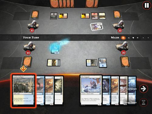 Écrans du jeu Magic duels pour iPhone, iPad ou iPod.