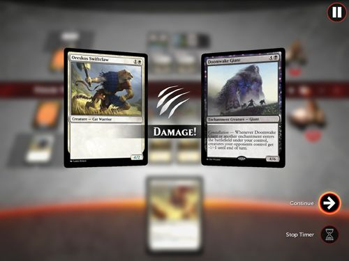 Screenshots vom Spiel Magic duels für iPhone, iPad oder iPod.
