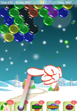 Геймплей Magic Finger: Christmas Bubble для Айпад.
