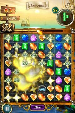 Screenshots of the Magic Gem game for iPhone, iPad or iPod.