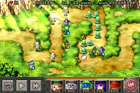 Écrans du jeu Magical tower defense pour iPhone, iPad ou iPod.