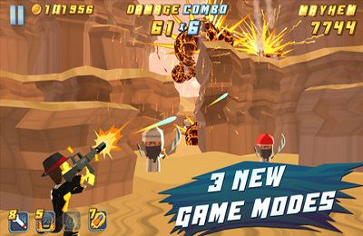 Screenshots vom Spiel Major Mayhem für iPhone, iPad oder iPod.