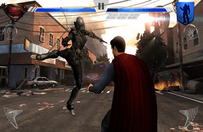 Écrans du jeu Man of Steel pour iPhone, iPad ou iPod.
