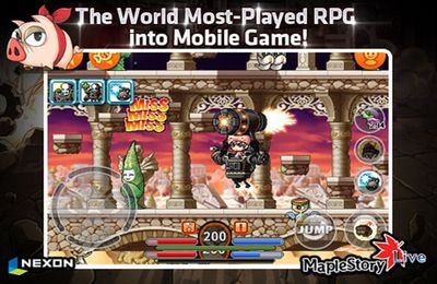 Screenshots of the Maple Story live deluxe game for iPhone, iPad or iPod.