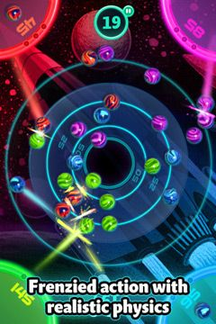 Screenshots of the Marble Mixer game for iPhone, iPad or iPod.