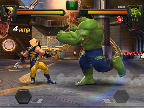 iPhone、iPad または iPod 用Marvel: Contest of championsゲームのスクリーンショット。