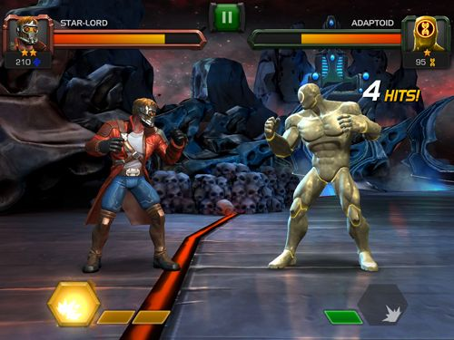 Écrans du jeu Marvel: Contest of champions pour iPhone, iPad ou iPod.