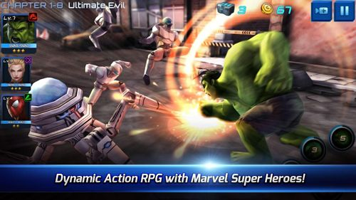Écrans du jeu Marvel: Future fight pour iPhone, iPad ou iPod.