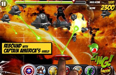 Screenshots of the Marvel Kapow! game for iPhone, iPad or iPod.
