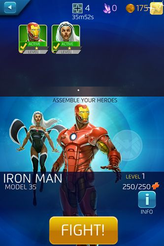 Screenshots of the Marvel: Puzzle quest game for iPhone, iPad or iPod.