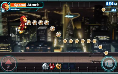 Capturas de pantalla del juego Marvel: Run, jump, smash! para iPhone, iPad o iPod.