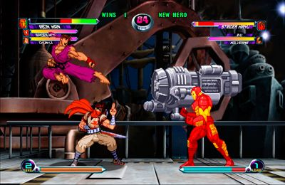 iPhone、iPad 或 iPod 版MARVEL vs. CAPCOM 2游戏截图。