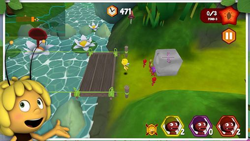Capturas de pantalla del juego Maya the Bee: The ant's quest para iPhone, iPad o iPod.
