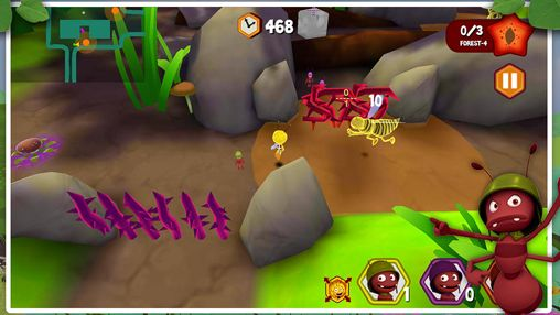Screenshots of the Maya the Bee: The ant's quest game for iPhone, iPad or iPod.