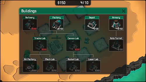 Screenshots of the Mechcom 2 game for iPhone, iPad or iPod.