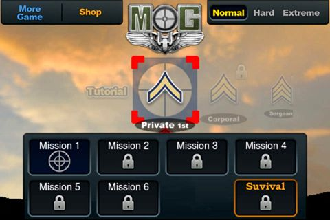 Download Medal of gunner iPhone free game.
