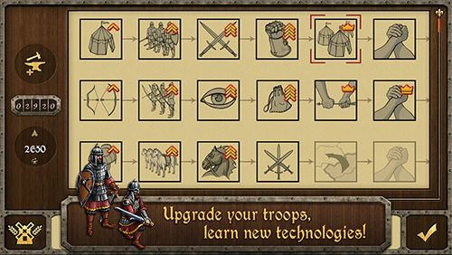 Écrans du jeu Medieval wars: Strategy and tactics pour iPhone, iPad ou iPod.