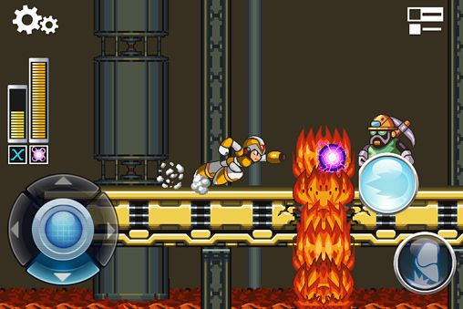 Screenshots of the MegaMan X game for iPhone, iPad or iPod.