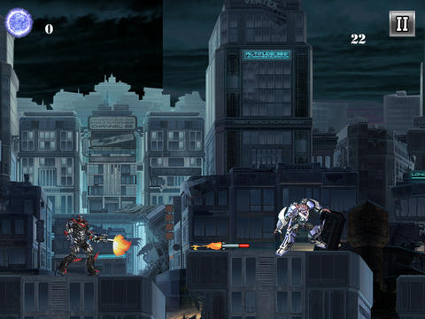 Screenshots of the Mega Robot Attack game for iPhone, iPad or iPod.