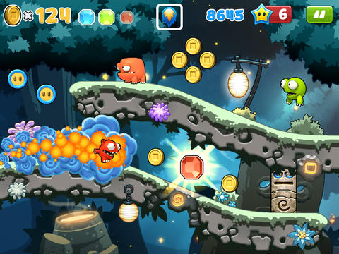 Screenshots vom Spiel Mega Run Plus – Redford's Adventure für iPhone, iPad oder iPod.